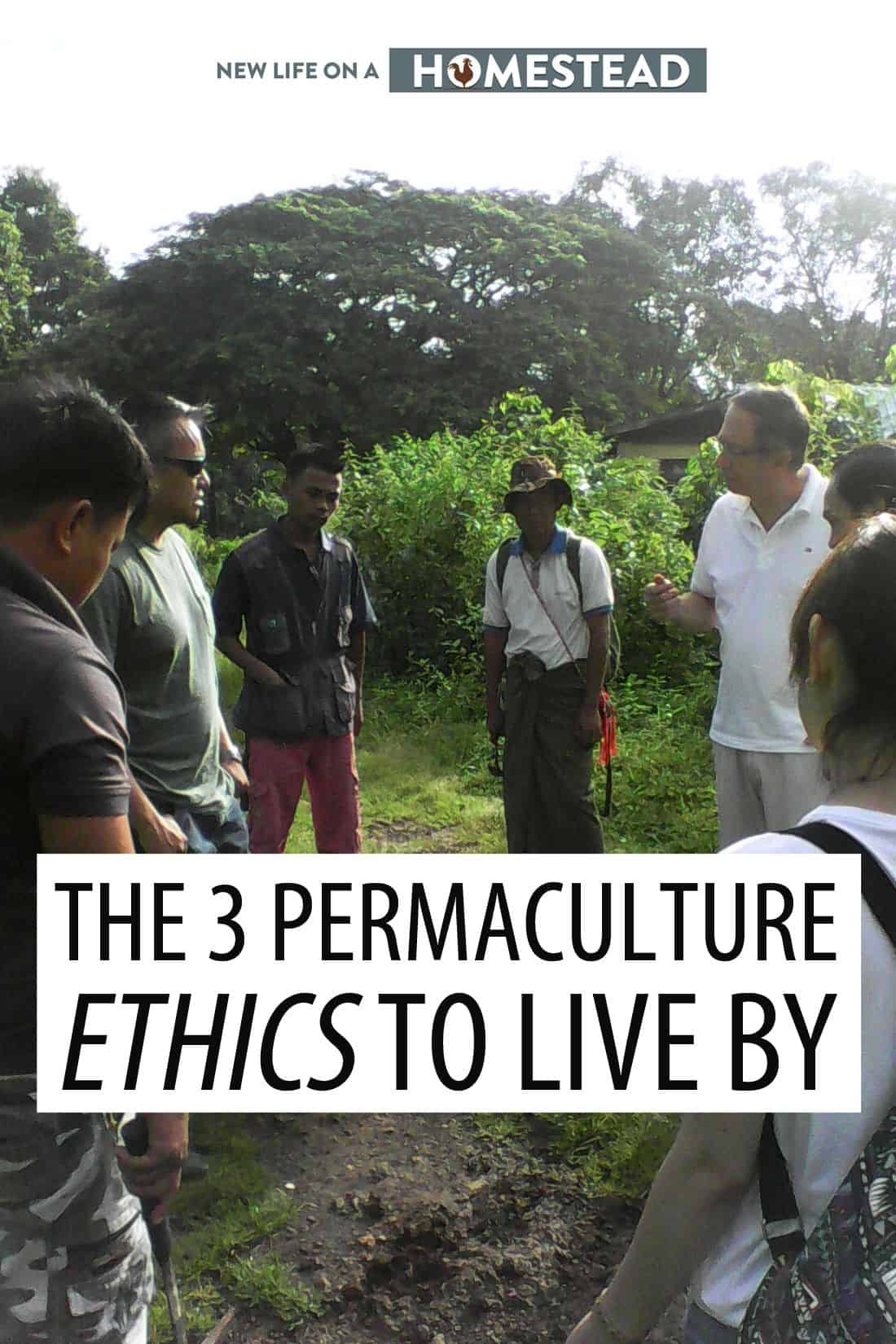 permaculture ethics pin image