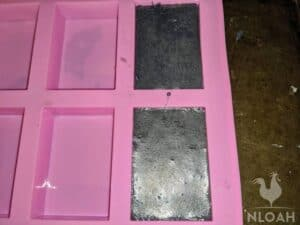activated charcoal in soap molds