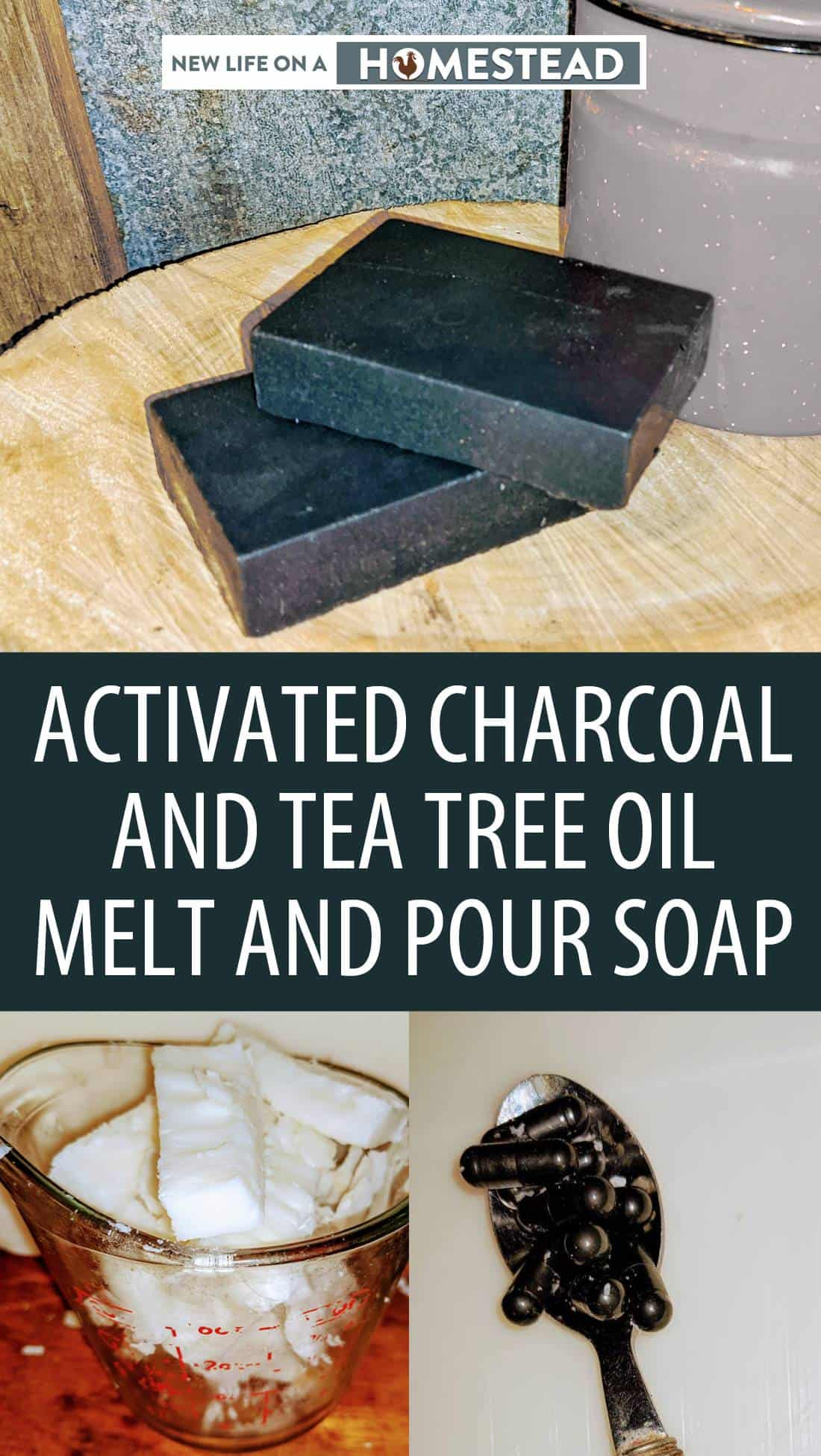 activated charcoal soap pin image