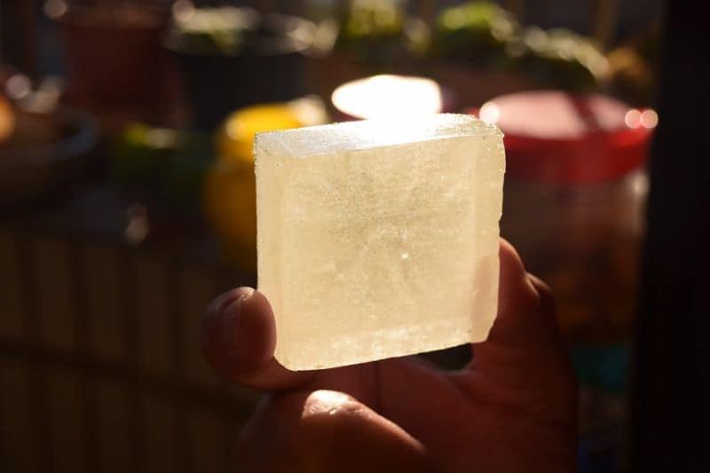 transparent handmade soap