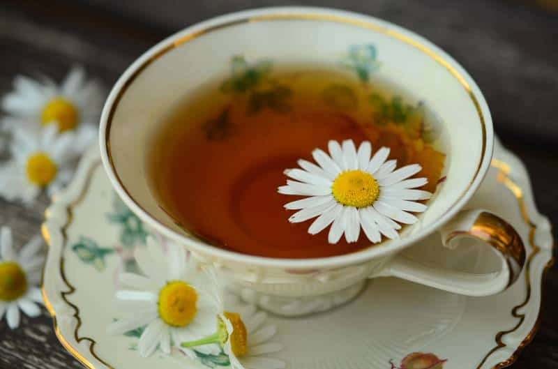 chamomile tea in cup