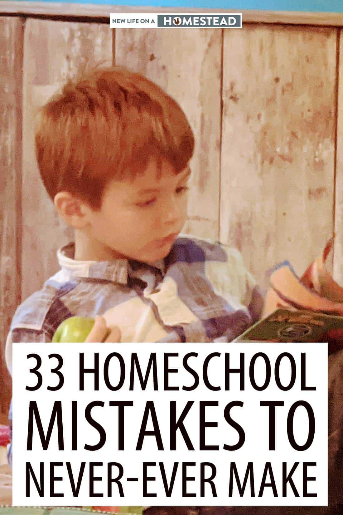 homeschooling mistakes pinterest