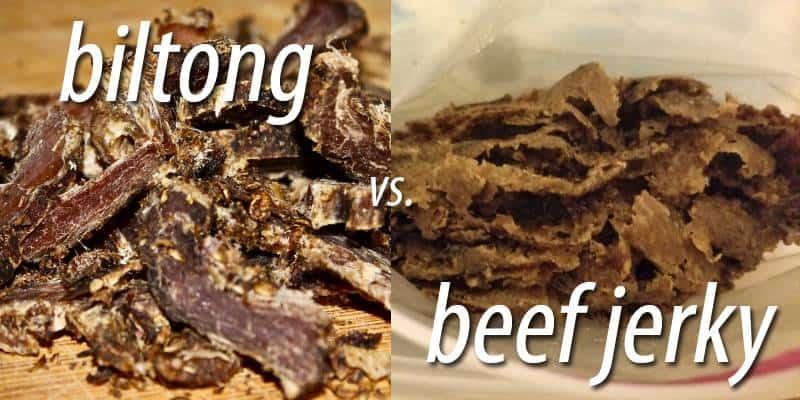 biltong vs. beef jerky