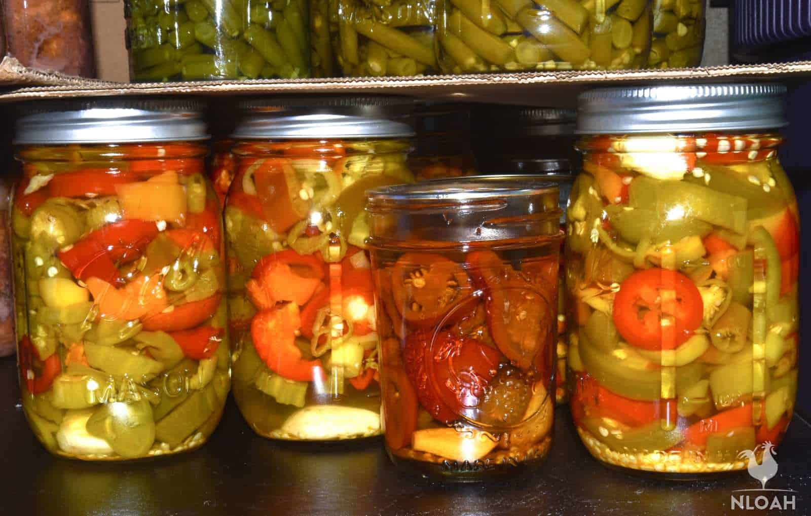 cans of hot pepper