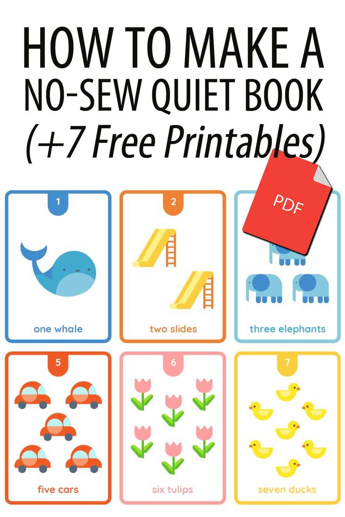 no-sew quiet book Pinterest image
