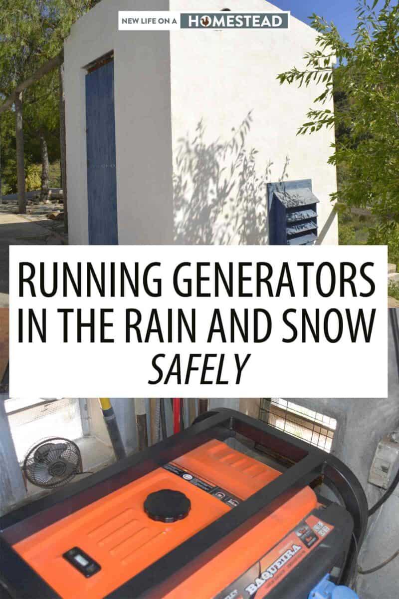 running generator rain Pinterest image