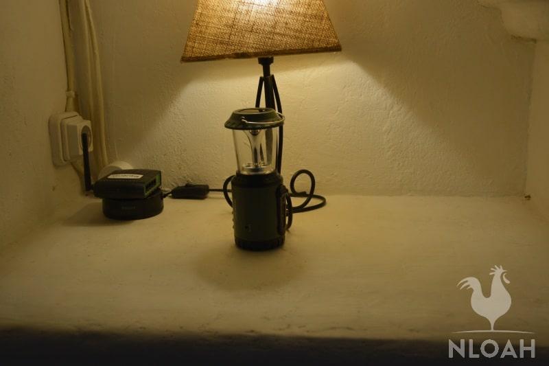 solar lamp charging under LED lamp