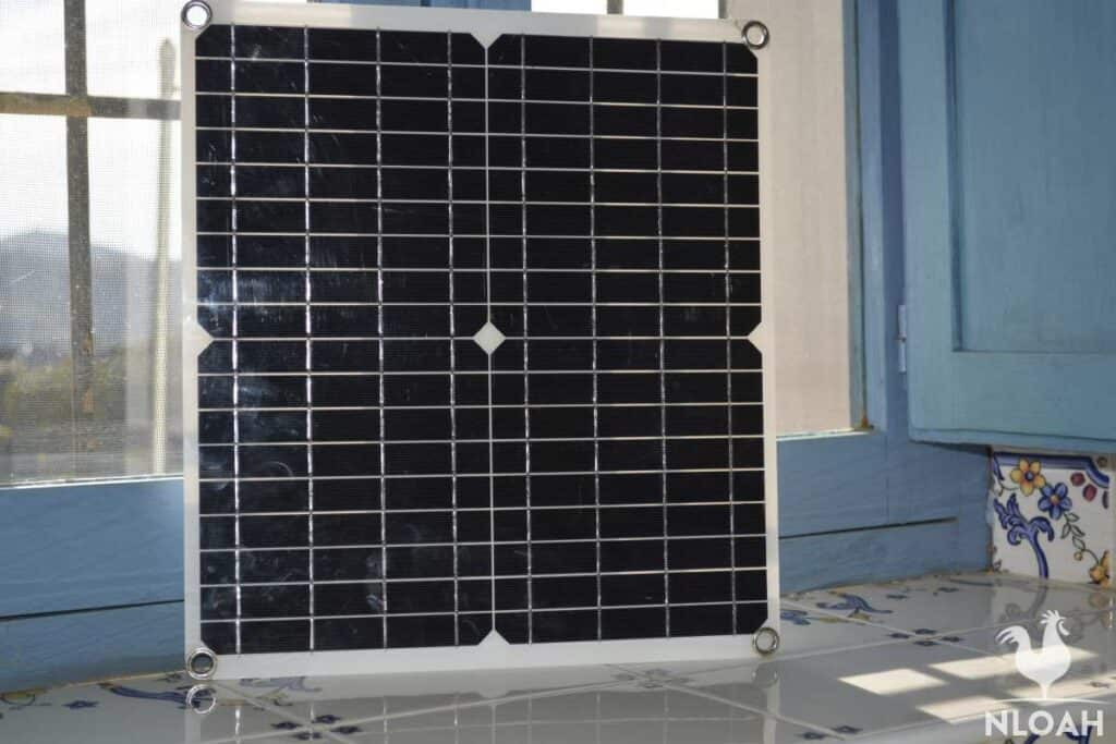 solar panel indoors
